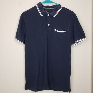 Banana Republic mens navy polo shirt size Small